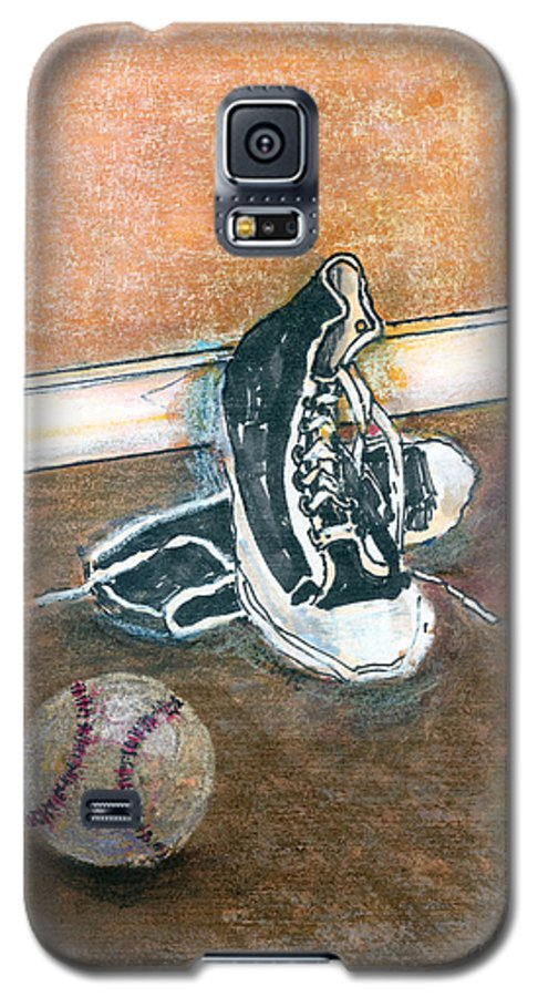Tennis Shoes Galaxy S5 Case featuring the mixed media After The Game by Arline Wagner