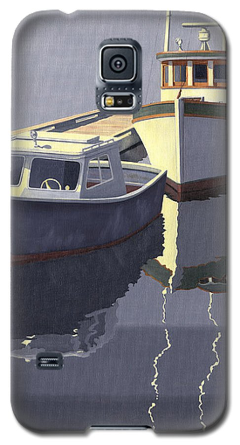 Boat Galaxy S5 Case featuring the painting After The Rain by Gary Giacomelli