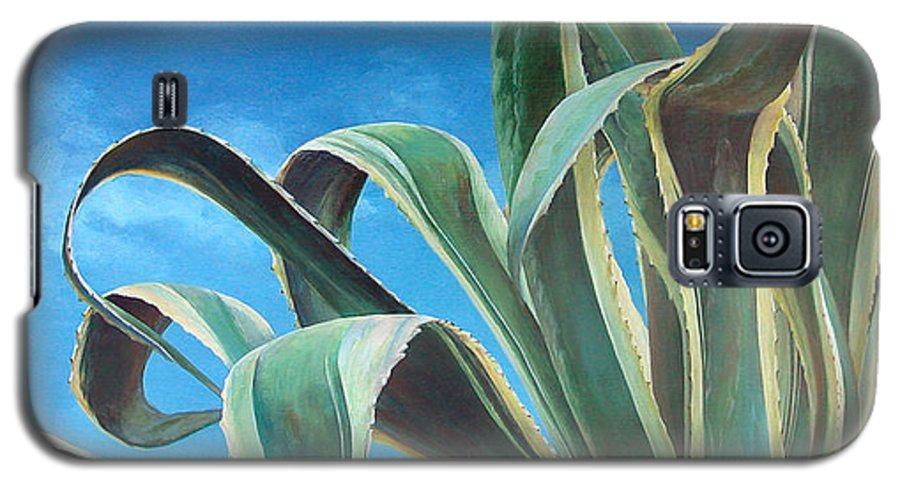Floral Painting Galaxy S5 Case featuring the painting Agave by Muriel Dolemieux