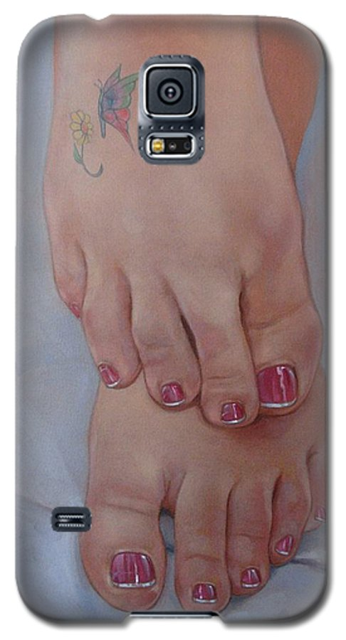 Pretty Feet Galaxy S5 Case featuring the painting Aimee by Jerrold Carton