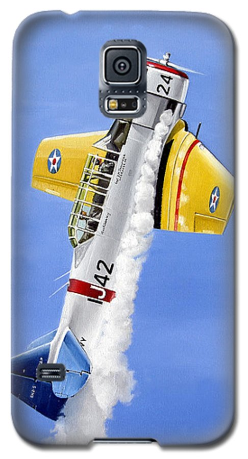 Military Galaxy S5 Case featuring the painting Air Show by Marc Stewart