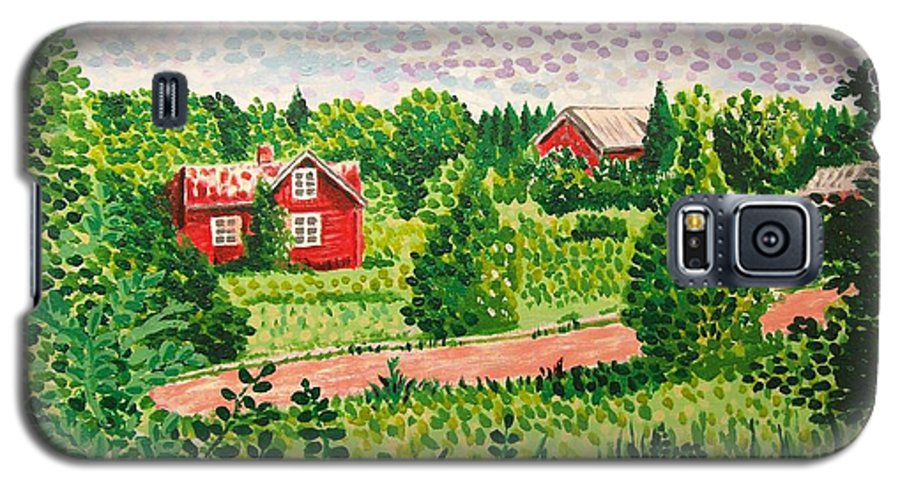 Aland Galaxy S5 Case featuring the painting Aland Landscape by Alan Hogan