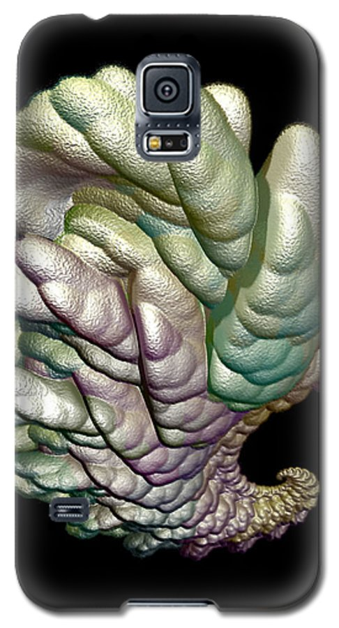 Fractal Galaxy S5 Case featuring the digital art Alien Brain by Frederic Durville
