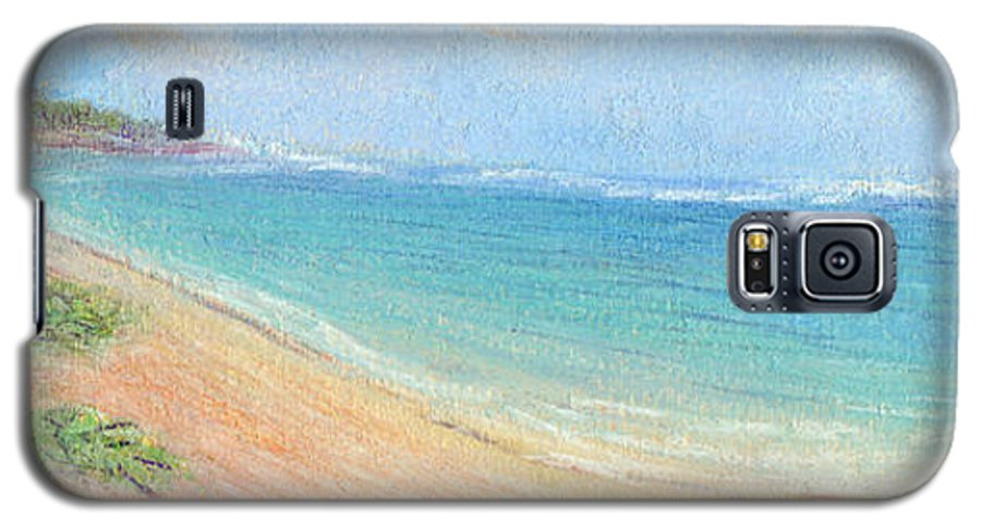 Rainbow Colors Pastel Galaxy S5 Case featuring the painting Aliomanu Beach by Kenneth Grzesik