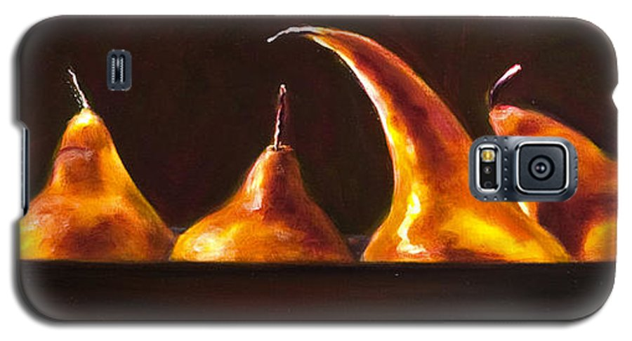 Pears Galaxy S5 Case featuring the painting All Aboard by Shannon Grissom