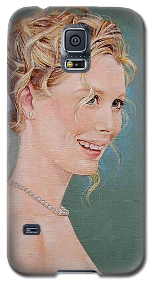 Wedding Galaxy S5 Case featuring the painting Allison by Jerrold Carton