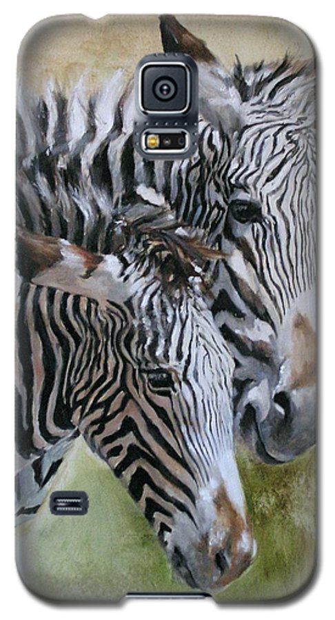 Wildlife Art Galaxy S5 Case featuring the painting Almost Grown by Debra Jones