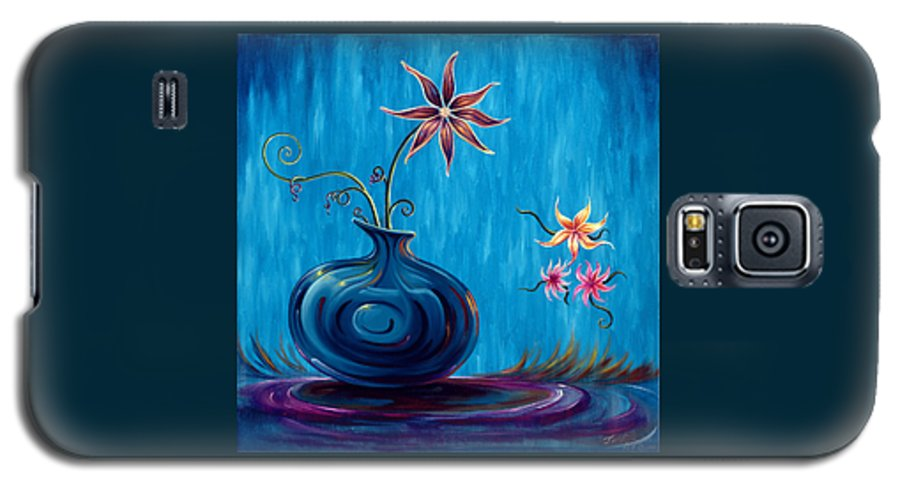 Fantasy Floral Scape Galaxy S5 Case featuring the painting Aloha Rain by Jennifer McDuffie