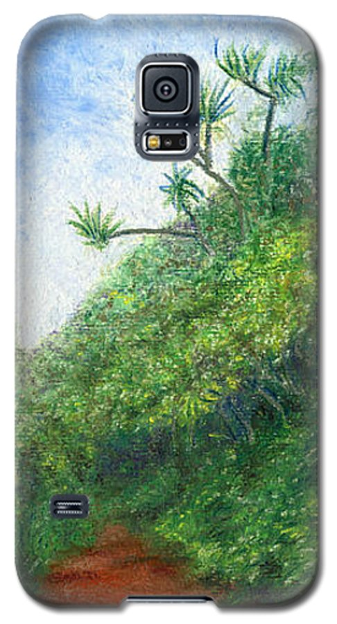 Coastal Decor Galaxy S5 Case featuring the painting Along The Trail by Kenneth Grzesik
