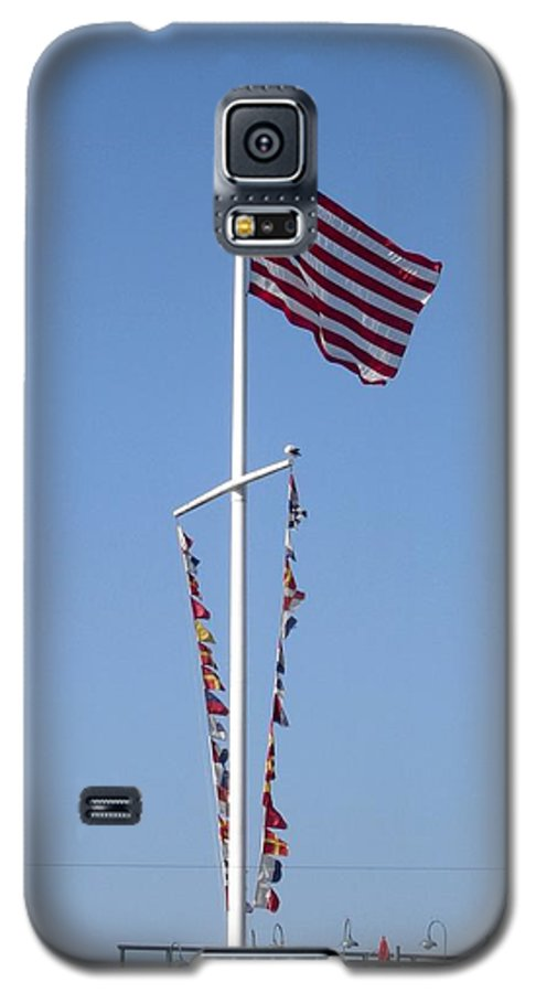 American Flag Galaxy S5 Case featuring the photograph American Flag by Shelley Jones