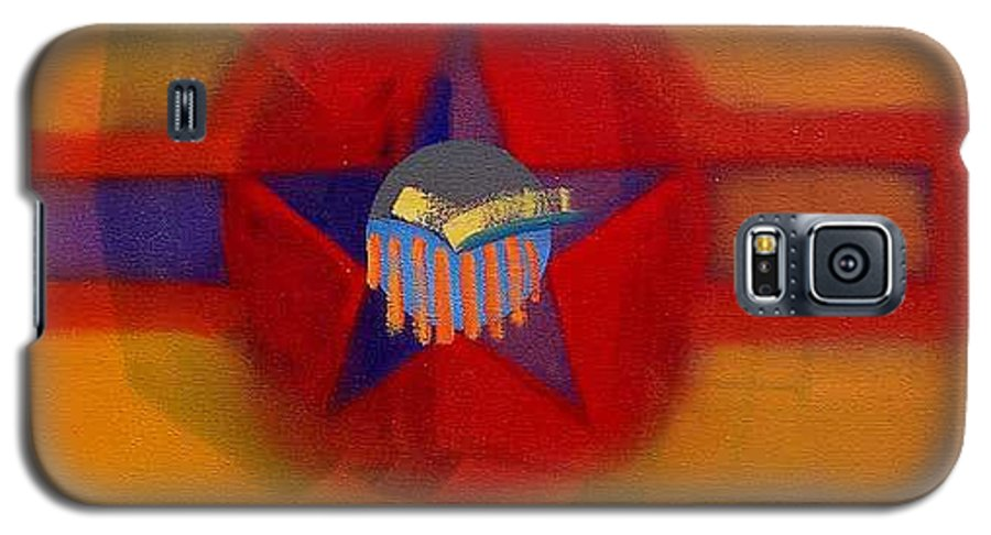 Usaaf Insignia And Idealised Landscape In Union Galaxy S5 Case featuring the painting American Sub Decal by Charles Stuart