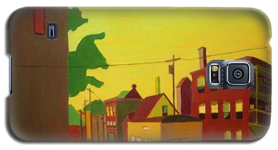 Jamaica Plain Galaxy S5 Case featuring the painting Amory Street Jamaica Plain by Debra Bretton Robinson