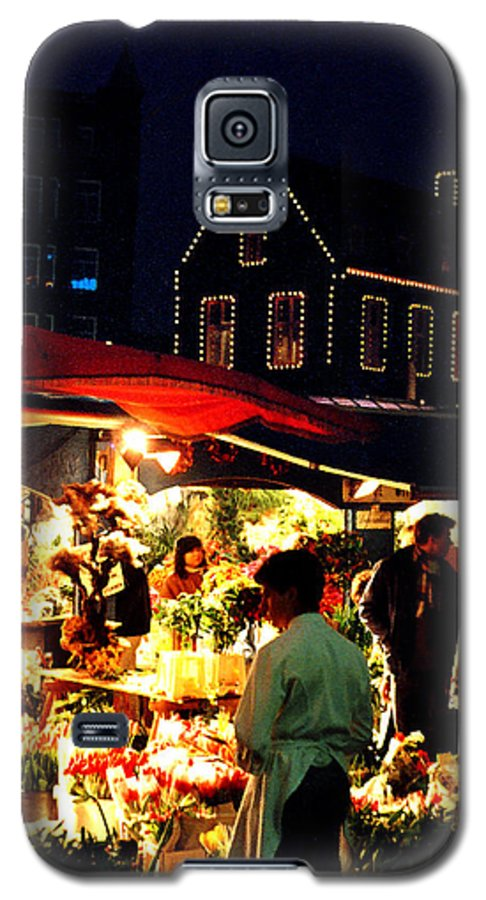 Flowers Galaxy S5 Case featuring the photograph Amsterdam Flower Market by Nancy Mueller