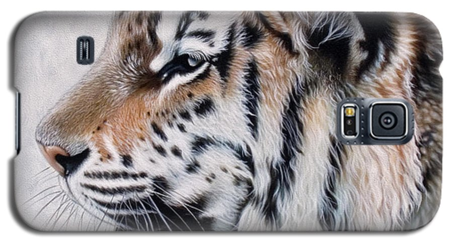 Acrylic Galaxy S5 Case featuring the painting Amur by Sandi Baker