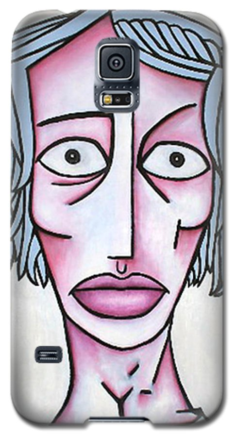 Potrait Galaxy S5 Case featuring the painting amy by Thomas Valentine