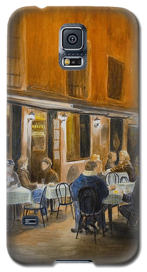 Venice Galaxy S5 Case featuring the painting An Autumn by Nik Helbig