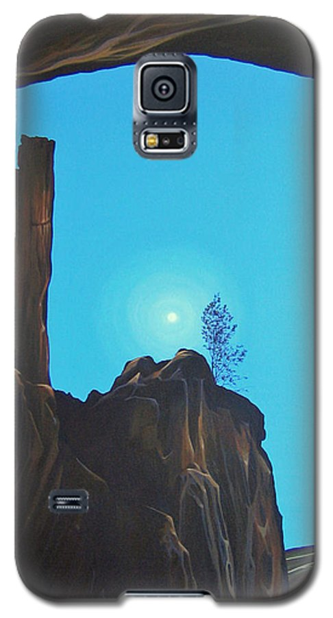New Mexico Galaxy S5 Case featuring the painting Anasazi Dreams by Hunter Jay