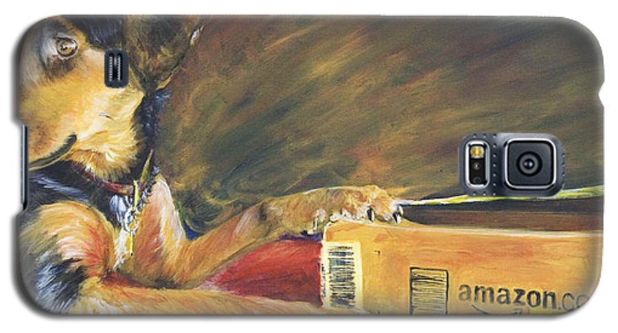 Dog Galaxy S5 Case featuring the painting And Youre Done by Nik Helbig