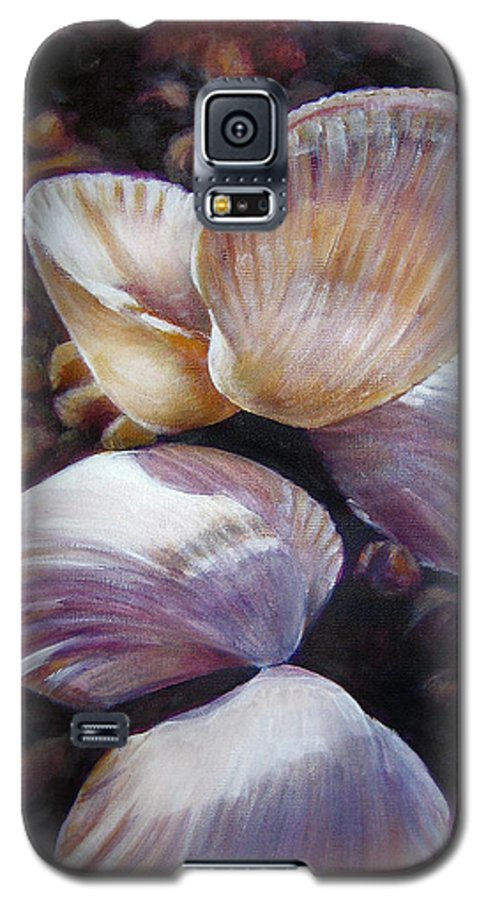 Painting Galaxy S5 Case featuring the painting Ane's Shells by Fiona Jack