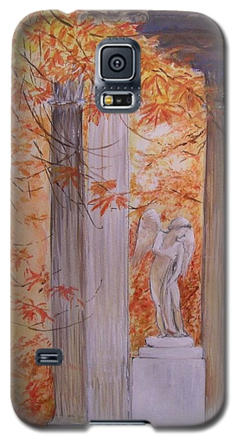 Angel Galaxy S5 Case featuring the painting Ange Petit Trianon Versailles by Lizzy Forrester