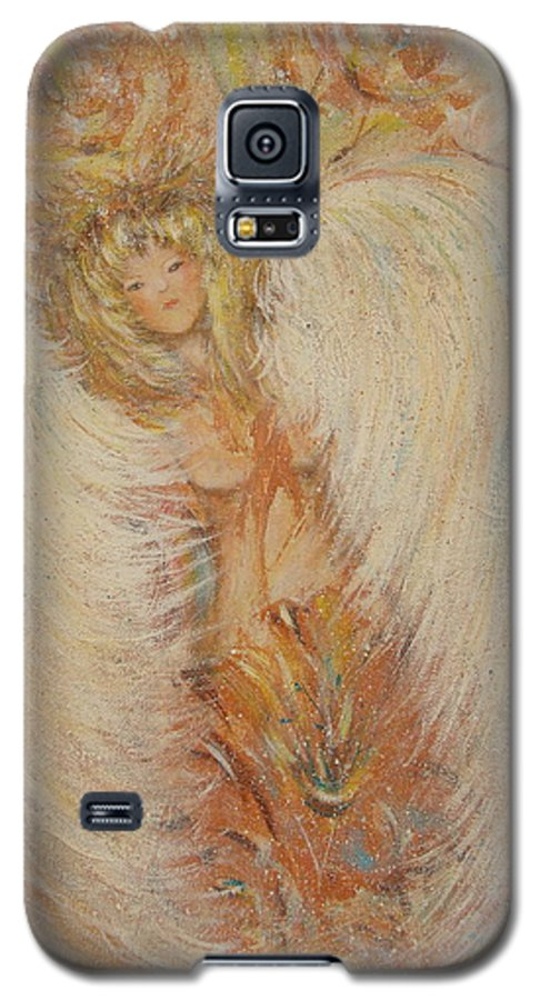 Angel Galaxy S5 Case featuring the painting Angel Loves You by Natalie Holland