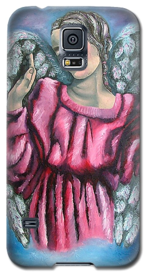 Angel Galaxy S5 Case featuring the painting Angel Of Hope by Elizabeth Lisy Figueroa
