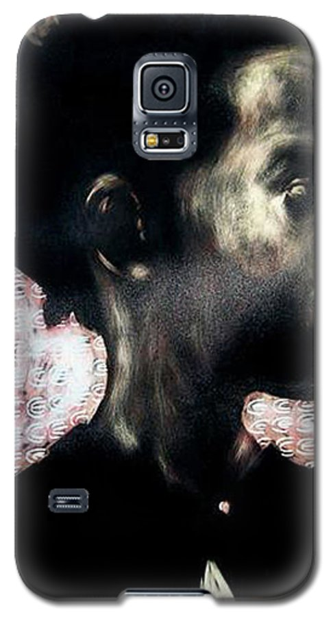 Galaxy S5 Case featuring the mixed media Angel Of Mercy by Chester Elmore