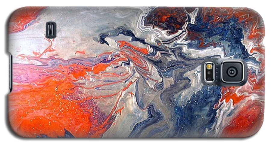 Abstract Galaxy S5 Case featuring the painting Annihilation by Patrick Mock