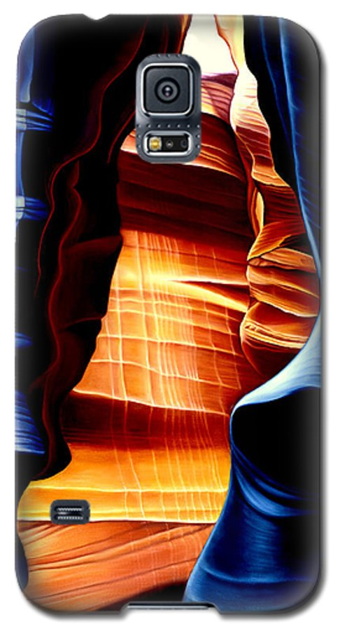 Landscape Galaxy S5 Case featuring the painting Antelope Canyon by Anni Adkins