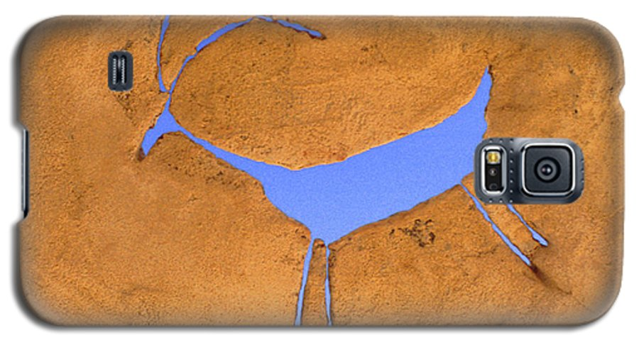 Anasazi Galaxy S5 Case featuring the photograph Antelope Petroglyph by Jerry McElroy