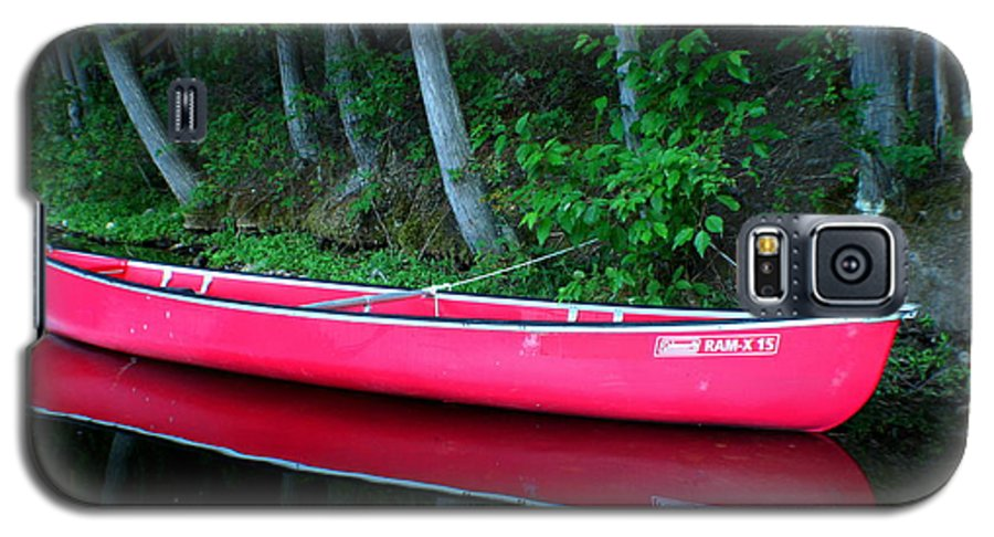 Canoe Galaxy S5 Case featuring the photograph Anticipation by Idaho Scenic Images Linda Lantzy