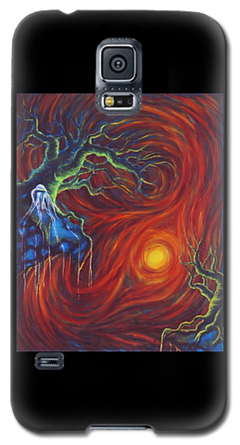Tree Paintings Galaxy S5 Case featuring the painting Anxiety by Jennifer McDuffie