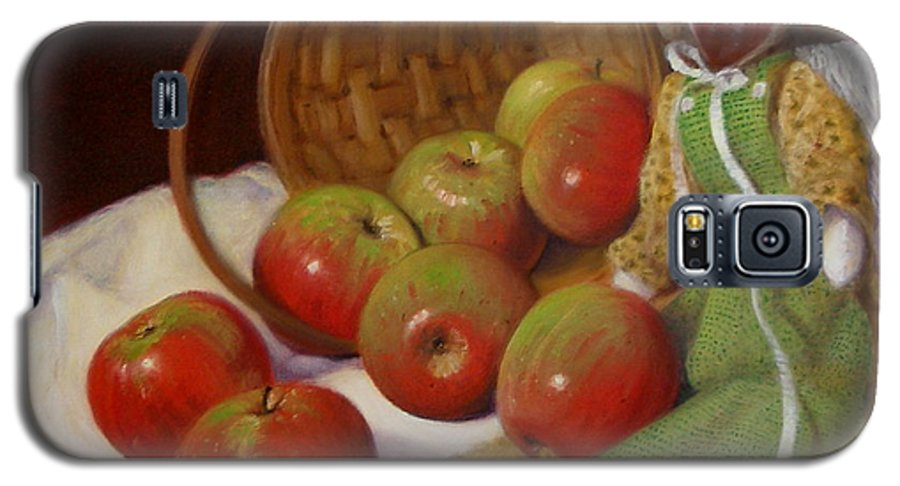 Realism Galaxy S5 Case featuring the painting Apple Annie by Donelli DiMaria