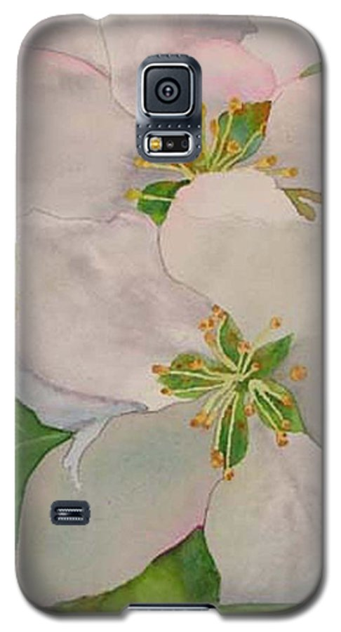 Apple Blossoms Galaxy S5 Case featuring the painting Apple Blossoms by Sharon E Allen