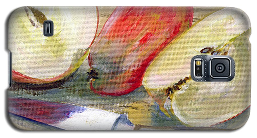 Still-life Galaxy S5 Case featuring the painting Apple by Sarah Lynch