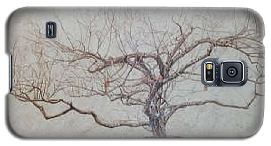 Apple Tree Galaxy S5 Case featuring the painting Apple Tree In Winter by Leah Tomaino