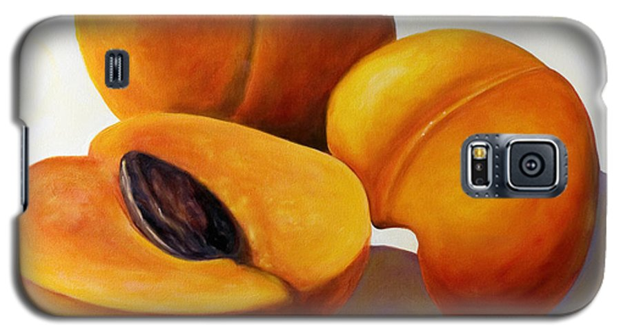 Apricots Galaxy S5 Case featuring the painting Apricots by Shannon Grissom