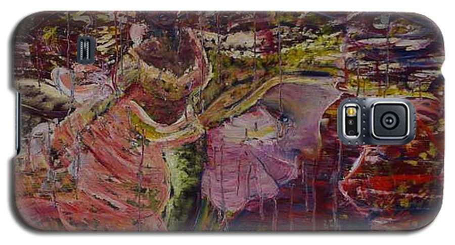 Portrait Galaxy S5 Case featuring the painting April 29th. by Peggy Blood
