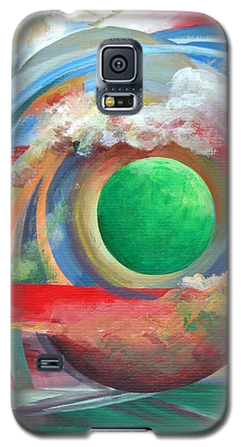 Abstract Galaxy S5 Case featuring the painting Arc by Muriel Dolemieux