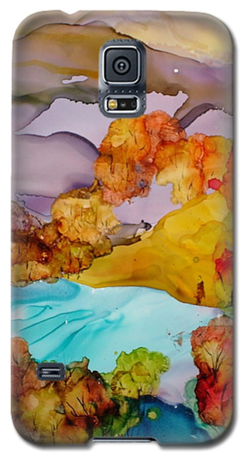Fall Galaxy S5 Case featuring the mixed media Arcadia by Susan Kubes