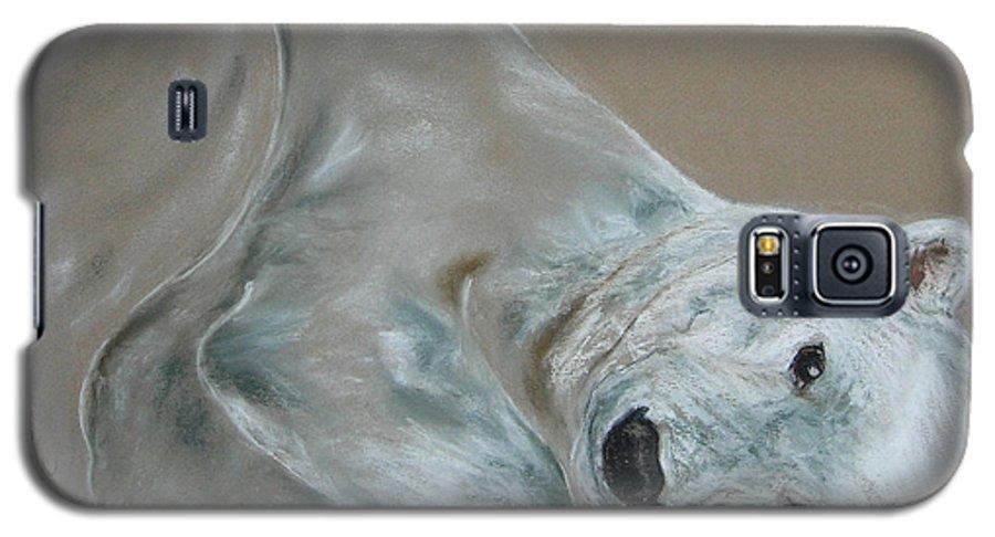 Polar Bear Galaxy S5 Case featuring the drawing Arctic Frolic by Cori Solomon
