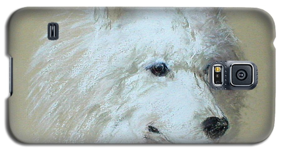 Dog Galaxy S5 Case featuring the drawing Arctic Serenity by Cori Solomon