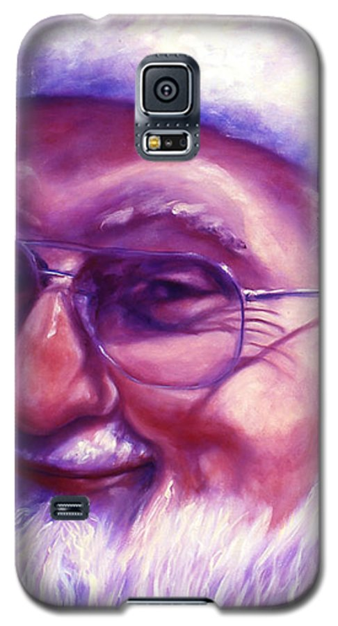 Portrait Galaxy S5 Case featuring the painting Are You Sure You Have Been Nice by Shannon Grissom