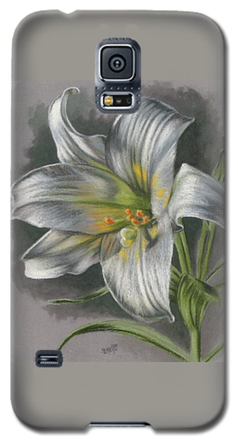 Easter Lily Galaxy S5 Case featuring the mixed media Arise by Barbara Keith