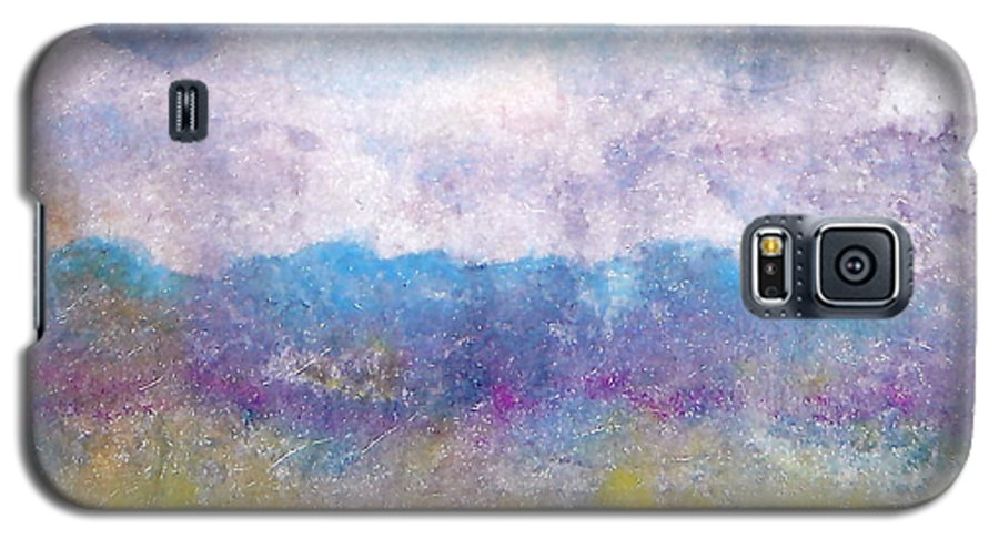 Abstract Galaxy S5 Case featuring the painting Arizona Impressions by Jan Bennicoff