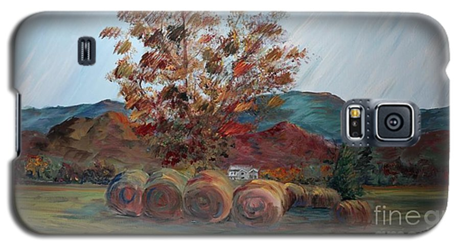 Autumn Galaxy S5 Case featuring the painting Arkansas Autumn by Nadine Rippelmeyer