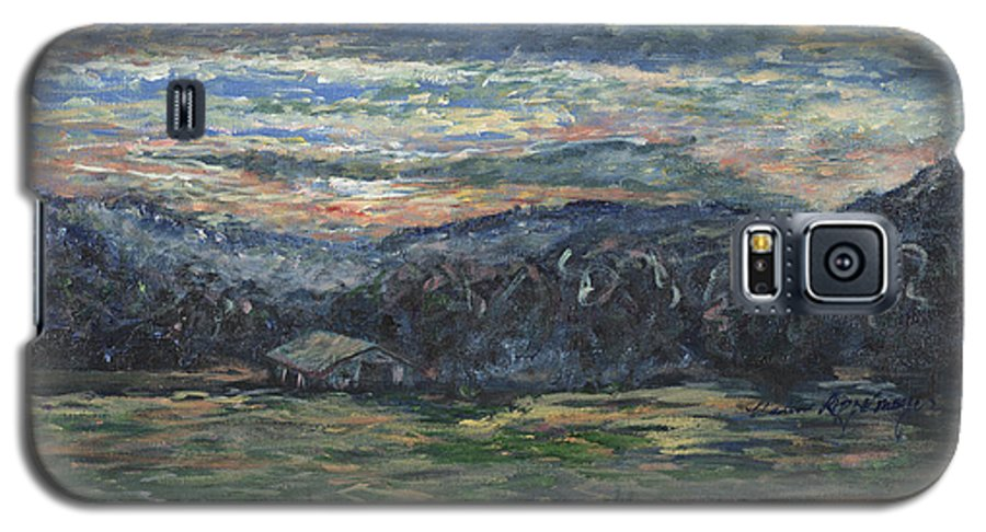 Impressionism Galaxy S5 Case featuring the painting Arkansas Sunrise by Nadine Rippelmeyer