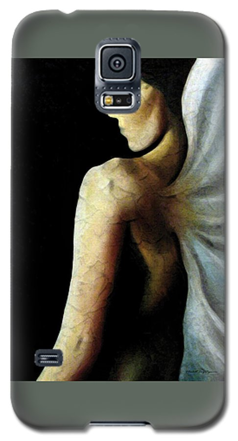 Angel Galaxy S5 Case featuring the painting Armaita Angel Of Truth Wisdom And Goodness by Elizabeth Lisy Figueroa