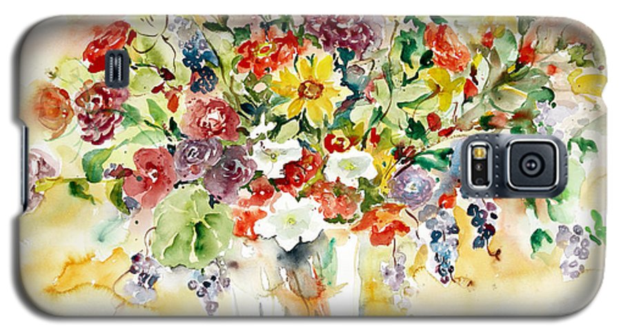 Watercolor Galaxy S5 Case featuring the painting Arrangement IIi by Alexandra Maria Ethlyn Cheshire