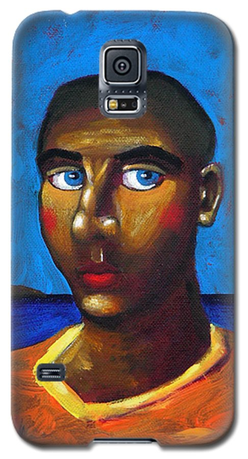 Arsonist Galaxy S5 Case featuring the painting Arsonist by Dimitris Milionis